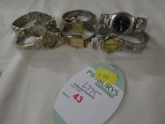 Seven ladies wrist watches including Sekonda and Lorus