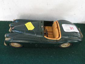 BURAGO MODEL OF A JAGUAR XK120. (AF)