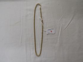 IMPORTED 9 CARAT GOLD ROPE TWIST NECKLACE, 5.9G