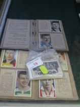 TWO ARDATH FAMOUS FOOTBALLERS POCKET BOOK ALBUMS (1930S), THIRTY MIRRORCARD STAR SOCCER SIDES, AND