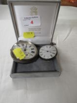 SILVER OPEN FACE POCKET WATCH, DIAL SIGNED A. GOLD LONDON UNIVERSAL ENGLISH LEVER, CHESTER ASSAY AND