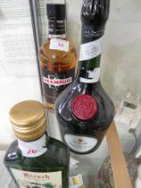 D.O.M Benedictine liqueur, 700ml, 40% (one bottle); Drambuie, 700ml, 40% (one bottle); Lesgrevil