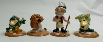 John Beswick Limited Edition The Herbs figures:Bayleaf the Gardener, Parsley the Lion, Sage the Owl,