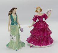 Royal Doulton Pretty Ladies figures: Jennifer & Loving Thoughts(2)