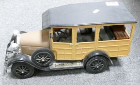 Jim Beam Kentucky straight bourbon whisky decanter: in the form of an American station wagon.