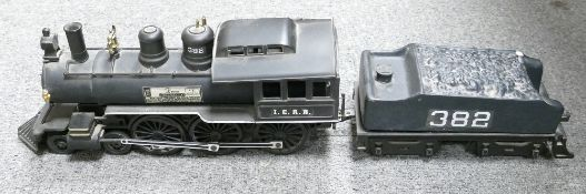 Jim Beam Kentucky straight bourbon whisky decanter: in the form of an American locomotive.