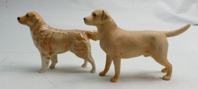 Beswick Retriever 2287: together with matt Labrador 1548(2)