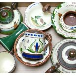 A collection of Devon Motto ware to include: Teapot, bowls, ashtray etc.