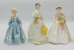 Royal Worcester Lady Figures: Summertime,