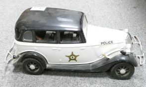 Jim Beam Kentucky straight bourbon whisky decanter: in the form of an American police car 1930's.