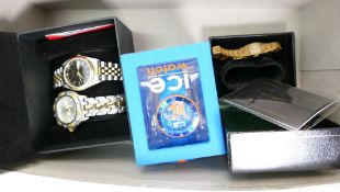 A collection of wristwatches: Including Citizen gents automatic and a divers wristwatches,