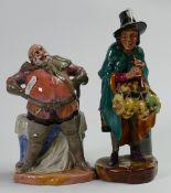 Royal Doulton seconds Character figures: Falstaff HN2054 & The Mask Seller HN2103(2)
