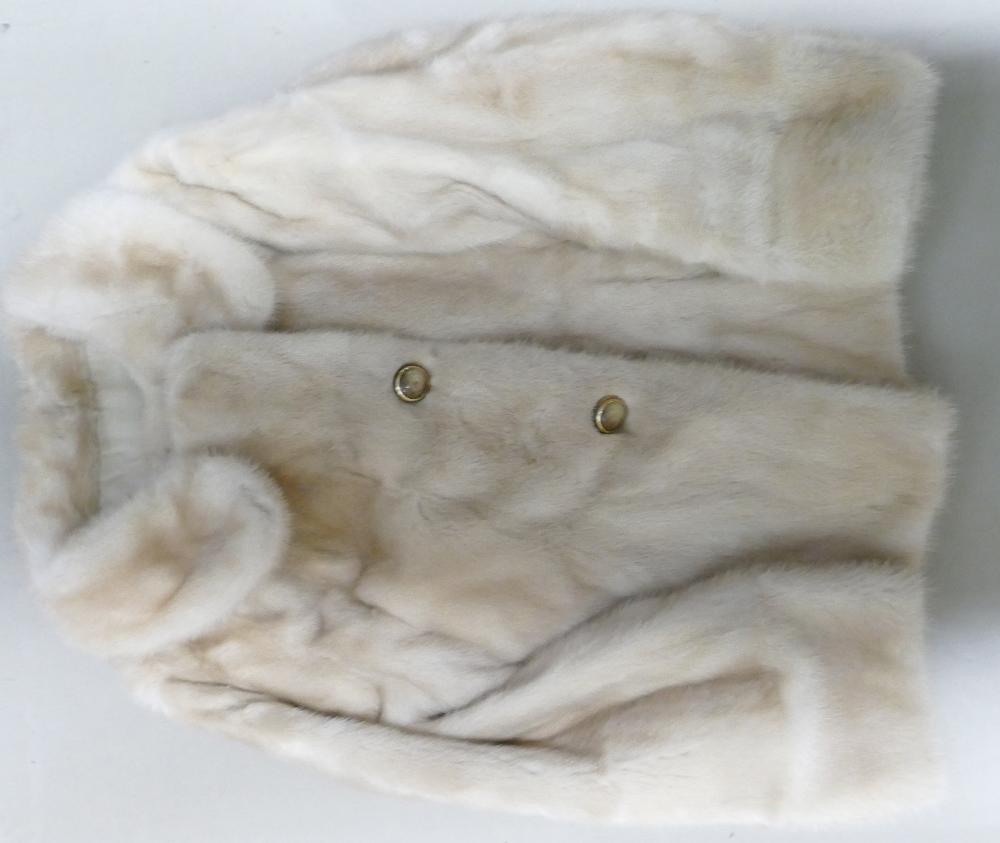 Blonde Mink Short Box jacket: Approx size 12.