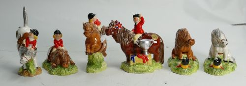 A collection of John Beswick Thelwell Ponies: all boxed