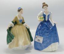 Royal Doulton Lady Figures: Elegance HN2264 & Helen HN3601(2)