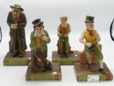 A collection of Aynsley China Dickens character figures: comprising Sam Weller,Oliver Twist,