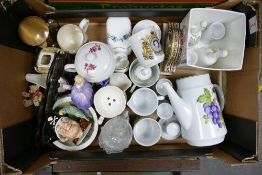 A mixed collection of items to include Royal Doulton Marie: Royal Doulton medium character jug