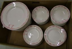 Churchill Vanity Fayre dinnerware items: 24 each of dinner plates, side plates and bowls.