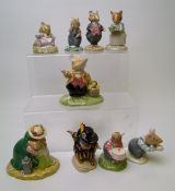 Royal Doulton Brambley Hedge Figures to include: Mrs Apple DBH47, Mr Toadflax DBH10, Wilred Toadflax