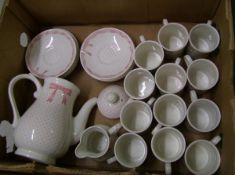 Churchill Vanity Fayre coffee ware items: 12 coffee cans, 12 saucers, milk jug and a coffee pot.