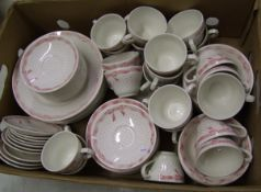 Churchill Vanity Fayre tea and dinner ware: 24 cups, 32 saucers, 18 bowls, 10 side plates and 10