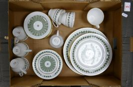 Spode Provence tea and dinner ware: to include 8 trio's, 5 side plates and 1 dinner plate