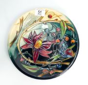 Moorcroft Hartgring plate: Signed by Emma Bosson and dated 19/11/05. Diameter 25cm.