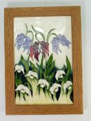 Moorcroft Alpine meadow plaque: 28cm x 20cm.