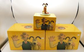 Three Wallace and Gromit figures: to include wool shop encounters,