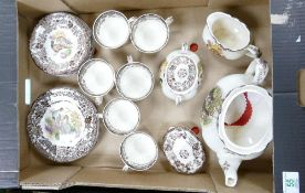 A collection of Royal Worecster Palissy Game Bird Tea Set:
