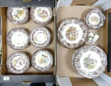 A collection of Royal Worecster Palissy Game Bird Dinner ware : to includes plates, rimmed bowls,