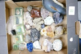 A collection of Rock & Mineral Sample Stones:
