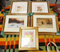 A collection of Still life & Landscape theme prints(5)