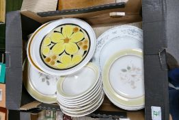 A collection of Japanese Stone Ware Dinner Plates : together with Royal Doulton similar items