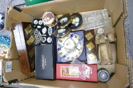 A mixed collection of items to include: boxed Royal Worcester dish, miniature dinnerware, cameo