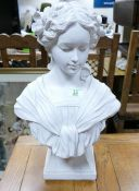 Large Classical Resin Bust: height 51cm