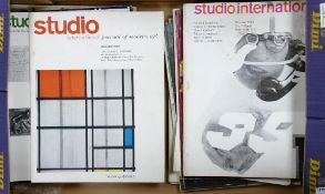 A collection of Studio International 1960's Modern Art Magazines: