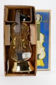 Boxed Mid Century Musical Decanter: in form of Cello