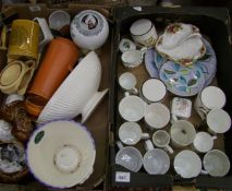 A mixed collection of items to include: Sadler biscuit barrel, Old Country Roses dish, Wedgwood