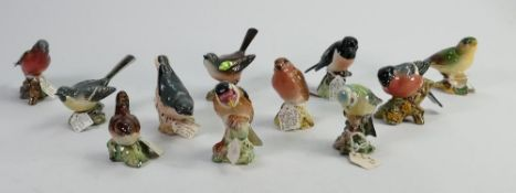 Beswick birds to include: Blue Tit 922B, Goldfinch 2273, Stonechat 2274, Chaffinch 911B, Nuthatch