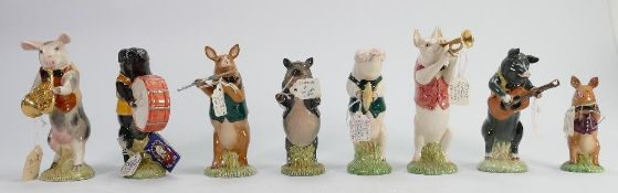Beswick pig promenade band: to include Richard PP8, Chistopher PP9, Michael PP6, John PP1, Matthew