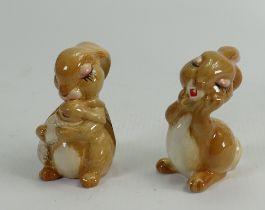 Beswick comical Rabbits: 2132 & 2131 (2)