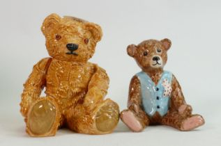 Beswick seated bears: George and Archie. (2)