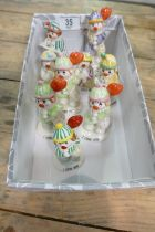 A collection of Beswick little lovable clowns (9):