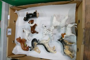A collection of Beswick small dog models (10):