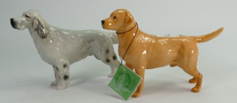 Beswick Labrador 1548 and Grey Setter 973 (2):