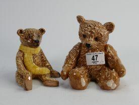 Beswick seated bears: Benjamin and Henry (2):