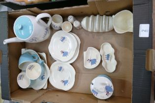 A collection of Beswick Ballet ware: comprising Teapot, cups & saucers, dishes etc (17)
