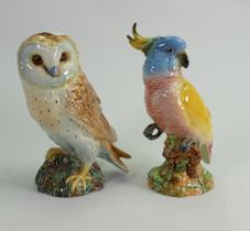 Beswick Cockatoo 1180 and Barn Owl 1046 (2):