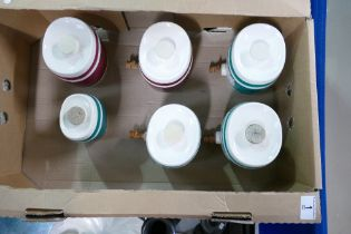 A collection of Beswick liquor barrels with taps (6):
